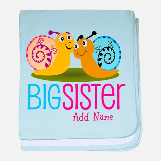 Add Name Big Sister baby blanket