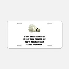 Badminton Easy Aluminum License Plate