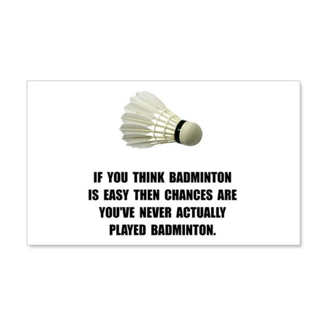 Badminton Easy Wall Decal