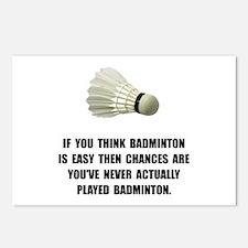 Badminton Easy Postcards (Package of 8)