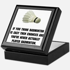 Badminton Easy Keepsake Box