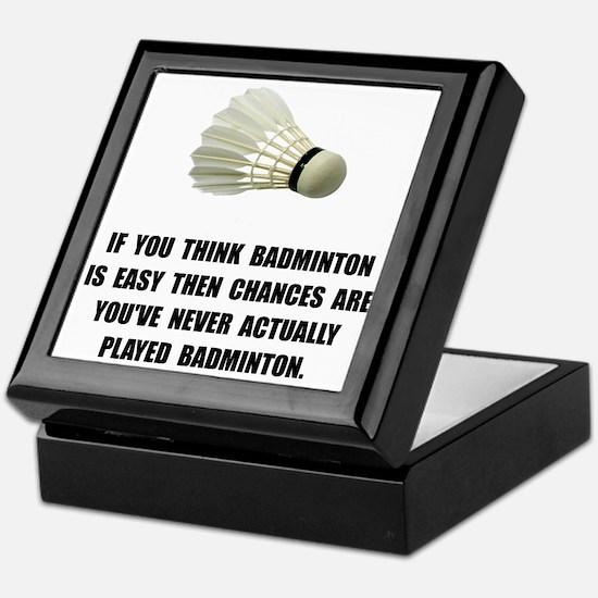 Badminton Easy Keepsake Box