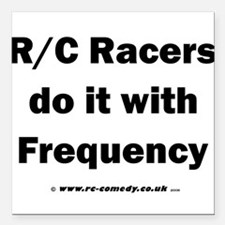 """Do it with Frequency Square Car Magnet 3"""" x 3"""""""