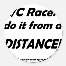 Distance! Round Car Magnet