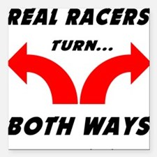 """Real Racers Square Car Magnet 3"""" x 3"""""""