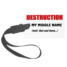 Destruction Luggage Tag