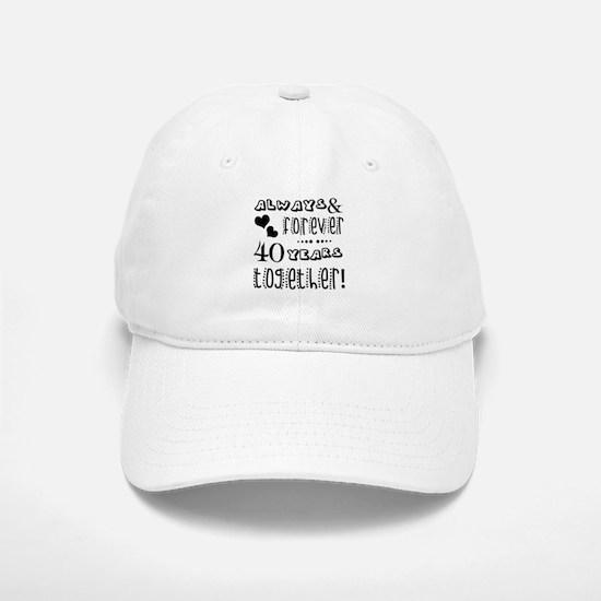 40th Anniversary Unique Baseball Baseball Cap