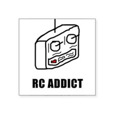 "addict_rc2.png Square Sticker 3"" x 3"""