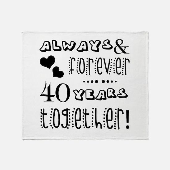 40th Anniversary Unique Throw Blanket