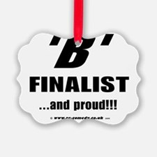 B Finalist Ornament