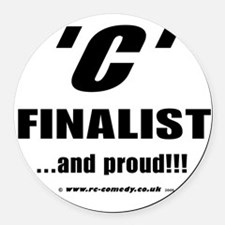 c_final.png Round Car Magnet
