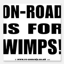 """On-Road Square Car Magnet 3"""" x 3"""""""