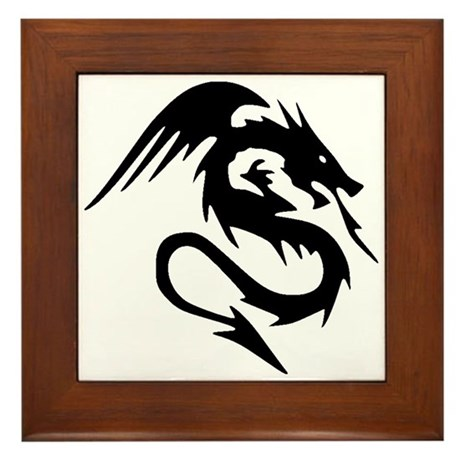 Dragon Design Framed Tile