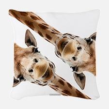 Giraffe Hangout Part 3 Woven Throw Pillow