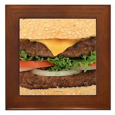 Funny Hamburger Framed Tile