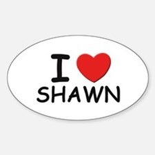 I love Shawn Oval Decal