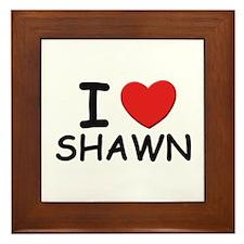 I love Shawn Framed Tile