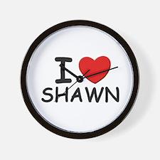 I love Shawn Wall Clock