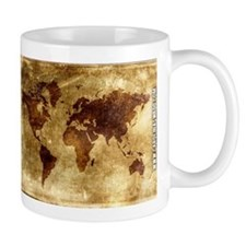 Vintage World Map Mug