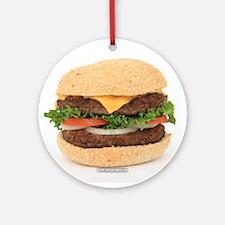 Hamburger Ornament (Round)