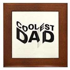 Coolest Dad Framed Tile