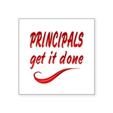 "Principals Square Sticker 3"" x 3"""
