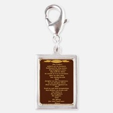 The Lords Prayer Wheat Silver Portrait Charm