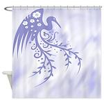Floral Bird Art Shower Curtain