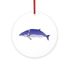 Minke Whale Ornament (Round)