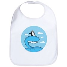 High On Life Penguin Surfer Bib