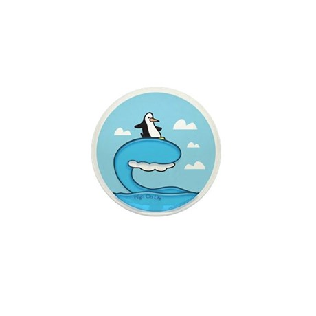 High On Life Penguin Surfer Mini Button