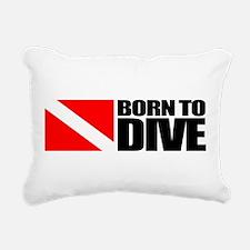 Born To Dive Rectangular Canvas Pillow