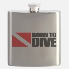 Born To Dive Flask