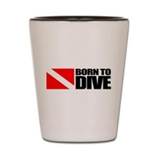 Born To Dive Shot Glass