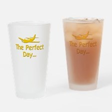 pilot airplane flying Drinking Glass