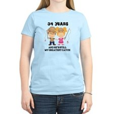 34th Anniversary Hes Greatest Catch T-Shirt