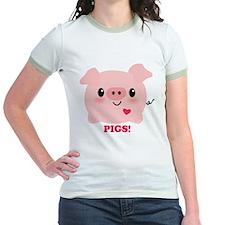 Kawaii I Love Pigs T