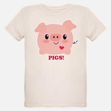 Kawaii I Love Pigs T-Shirt