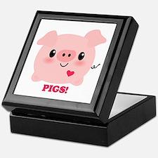 Kawaii I Love Pigs Keepsake Box
