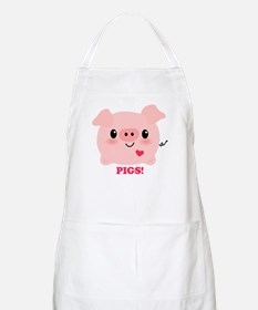 Kawaii I Love Pigs Apron