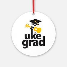 Uke Grad Ornament (Round)