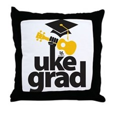 Uke Grad Throw Pillow