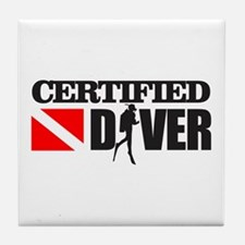 Certified Diver Tile Coaster