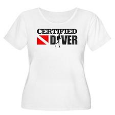 Certified Diver Plus Size T-Shirt