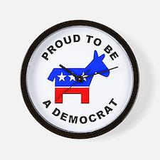 Proud Democrat Wall Clock