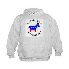 Proud Democrat (Front) Hoodie