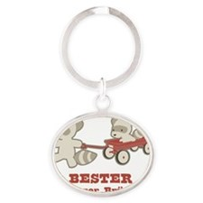 BestBigBrother_Racoons_German Oval Keychain