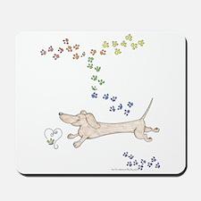 Doxie Rainbow Love Mousepad
