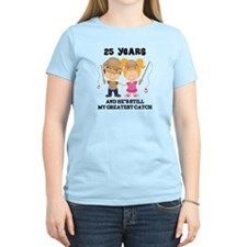 25th Anniversary Hes Greatest Catch T-Shirt