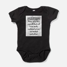AFTER ALL OF THIS (NEW FONT) Baby Bodysuit